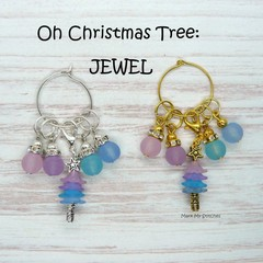 Stitch Markers : Oh Christmas Tree - JEWEL Stitch / Crochet Markers