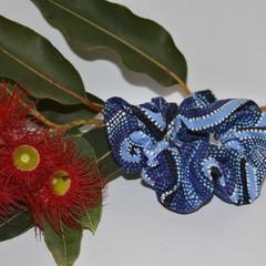 Blue Aboriginal Art Scrunchie