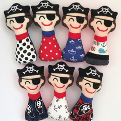 Pirate Rattle Toy Handmade Gift