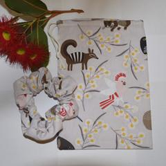 Grey Australian Animal Drawsting Bag