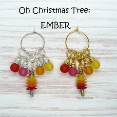 Stitch Markers : Oh Christmas Tree - EMBER Stitch / Crochet Markers