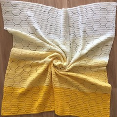 Ombré Honey Bee Blanket