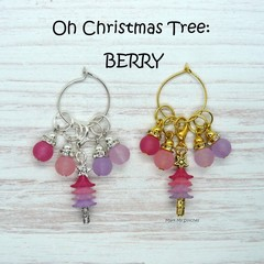 Stitch Markers : Oh Christmas Tree - BERRY Stitch / Crochet Markers