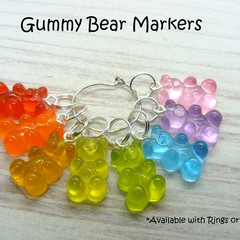 Rainbow Gummy Bear Marker Set | Stitch Markers | Crochet Markers