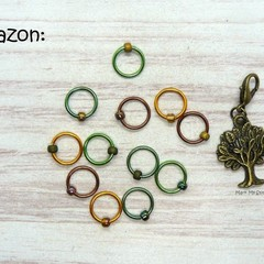 Amazon Snagfree Ring Stitch Markers | Knitting Accessories | Gift For Knitters
