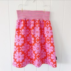 Ladies skirt - Pink and red flowers