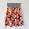 Ladies skirt with pockets - Lemons on pink