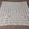 Pinks and Cream Granny Square Blanket