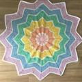 Rainbow 12 Point Star Blanket