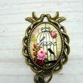 Portuguese Magnetic Knitting Pin : Love Birds l ID Badge Holder