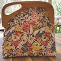 May Flower handbag with offset handle