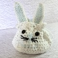Easter Treat Bag 'Crochet Bunny with Blue Details'