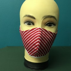 Fashion Red Lines Mask