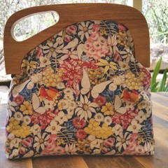 May Flower handbag with offset handle
