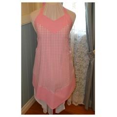 Pink Gingham Ladies Apron
