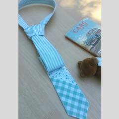 BOYS tie - mint patchwork style