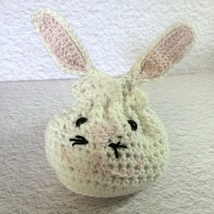 Easter Treat Bag 'Crochet Bunny with Pink Details'