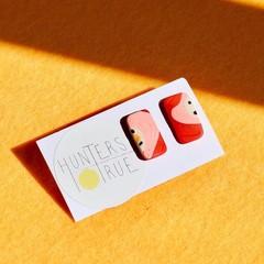 Witchetty Way rectangle stud earrings / Polymer Clay Earrings / minimalist