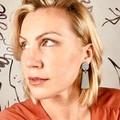 Sage Statement Drop Earrings / Handmade Earrings / Sage Green / Minimalist earri