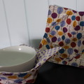 Bowl Cosies - Purple spots and trees