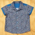 Precious Paisley - Boy's Button up Shirt - Size 3
