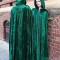 Medium Length Emerald Green Velour Cloak