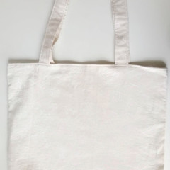 Reusable Fabric Tote Bag- Light Seashell Pattern