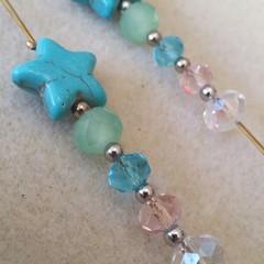 Long Crystal Star Earrings