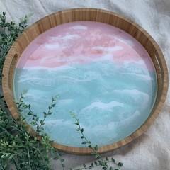 Bamboo and Resin Art Tray