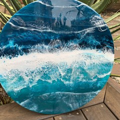 50cm Ocean Resin Wall Art