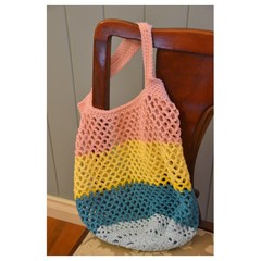Crochet Mesh Market Bag - Beachy