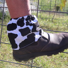 Cow Print Adult Sock Protectors