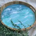 Resin Art Bamboo Serving Tray