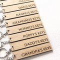 For Him Keyring, Choose Your Own, Father's Day Gift, Dad, Daddy, Pa, Nunnu, Pop
