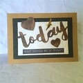 'What Should We Do Today?' Brown Kraft Inspirational Card