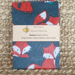 Medium Beeswax Wrap - Foxy