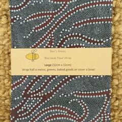 Large Beeswax Wrap - Aboriginal Grey
