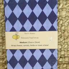 Medium Beeswax Wrap - Harlequin