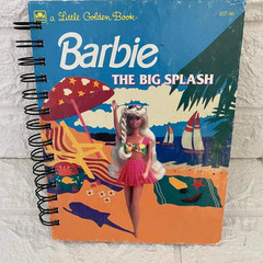 2021/2022 Upcycled Little Golden Book Diary -  Barbie/ The Big Splash