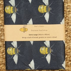 Extra Large Beeswax Wrap - Bumble Bee Blue