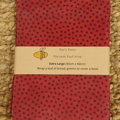Extra Large Beeswax Wrap - Spotty Red