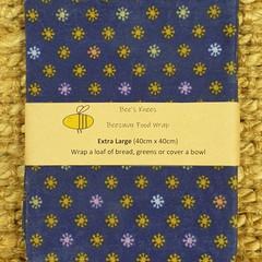 Extra Large Beeswax Wrap - Blue Burst