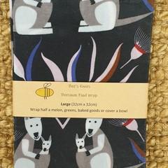Large Beeswax Wrap - Kangaroo