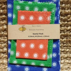 Beeswax Wraps STARTER PACK Dots