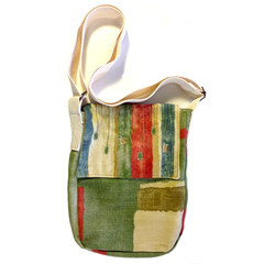 Summer Grass Messenger up-cycled bag - ON SALE