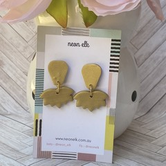 Polymer Clay Earrings - Gold
