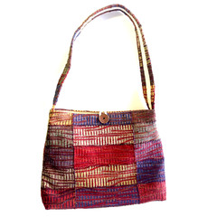 Red Centre up-cycled handbag - ON SALE