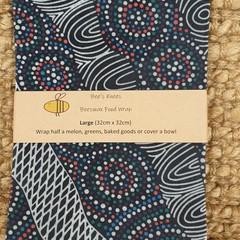 Large Beeswax Wrap - Aboriginal Multi