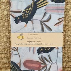 Large Beeswax Wrap - Black Cockatoo