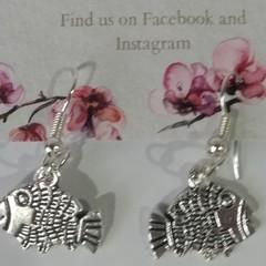 Silver Fish dangle earrings